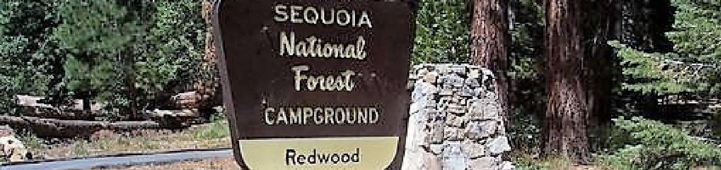 Redwood MeadowCampground Entrance
