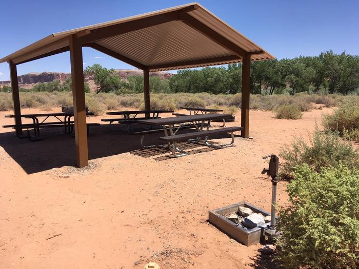 A photo of Group Site B water spigotGroup Site B water spigot