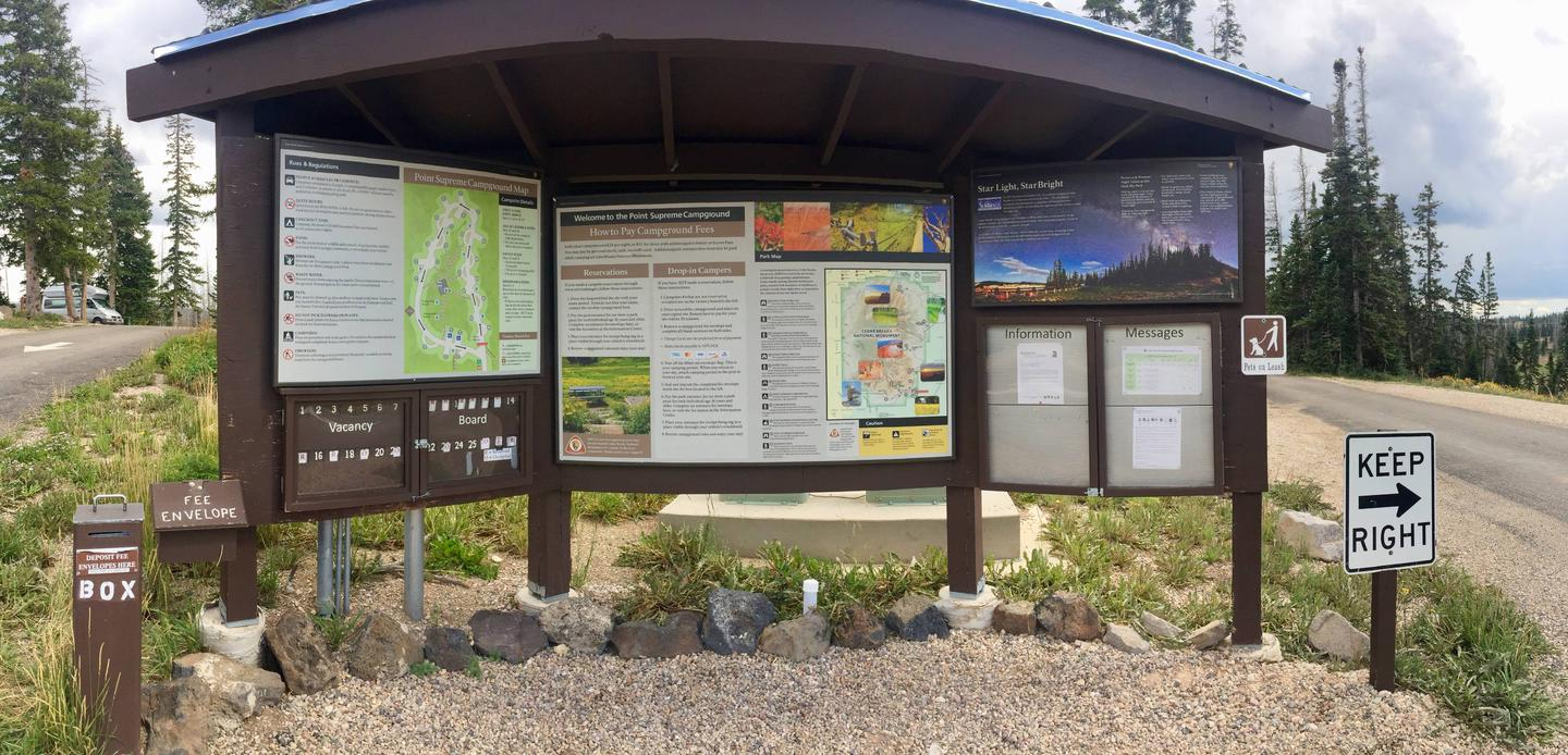 Campground check-in kiosk.