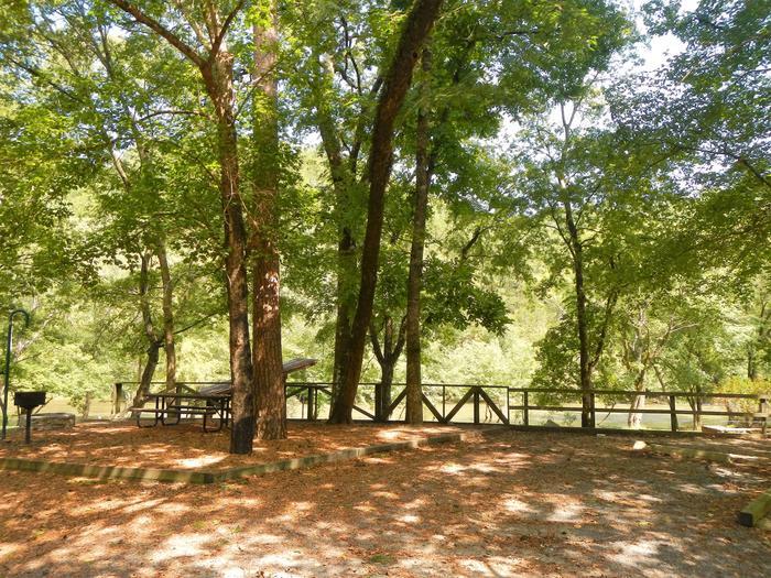 Gillham Lake Cossatot Reefs Campsite # 18Campsite #18