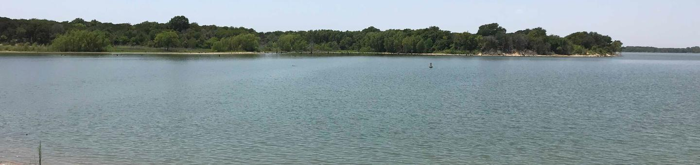 View of Waco Lake from Midway Park