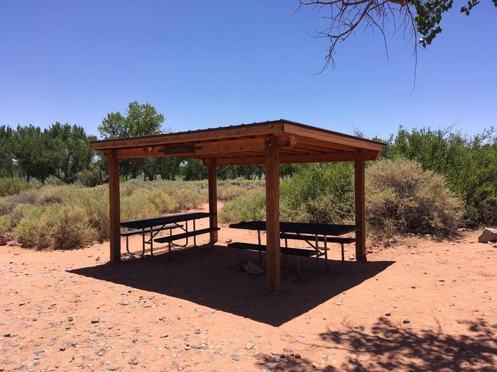 A photo of Sand Island Group Site A shelterSand Island Group Site A shelter