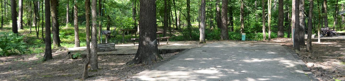 Gillham Lake Little Coon Creek Park Campsite # 2Campsite #2