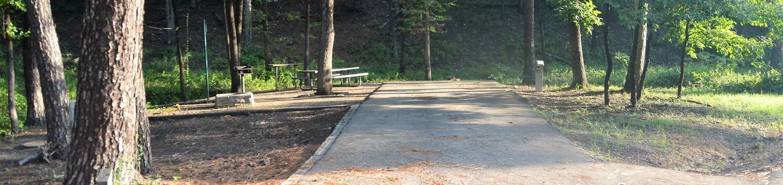 Gillham Lake Little Coon Creek Park Campsite # 7Campsite #7