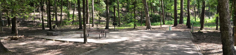 Gillham Lake Little Coon Creek Park Campsite # 9Campsite #9