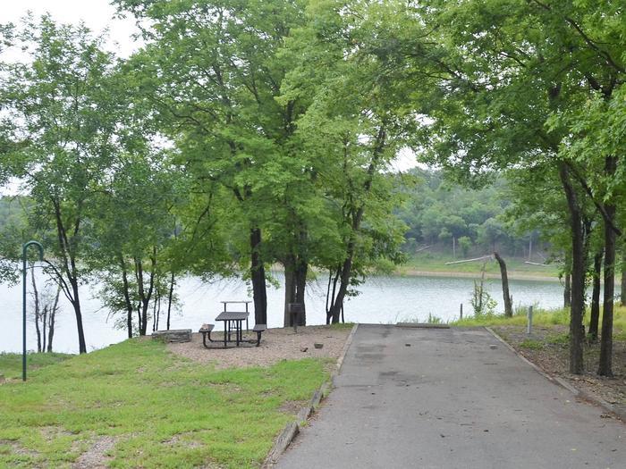 Gillham Lake, Big Coon Creek Campsite # 13Campsite #13