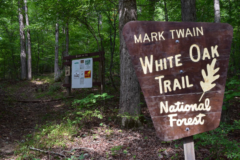 White Oak TrailheadWhite Oak Trailhead at the Float Camp