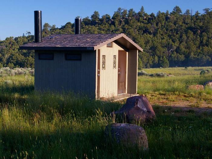 Restrooms located at campground.Arch Dam Campground Restrooms