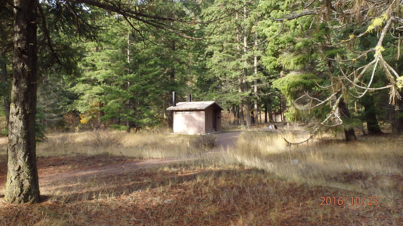 Halfway Flat CampgroundNice vault toilets