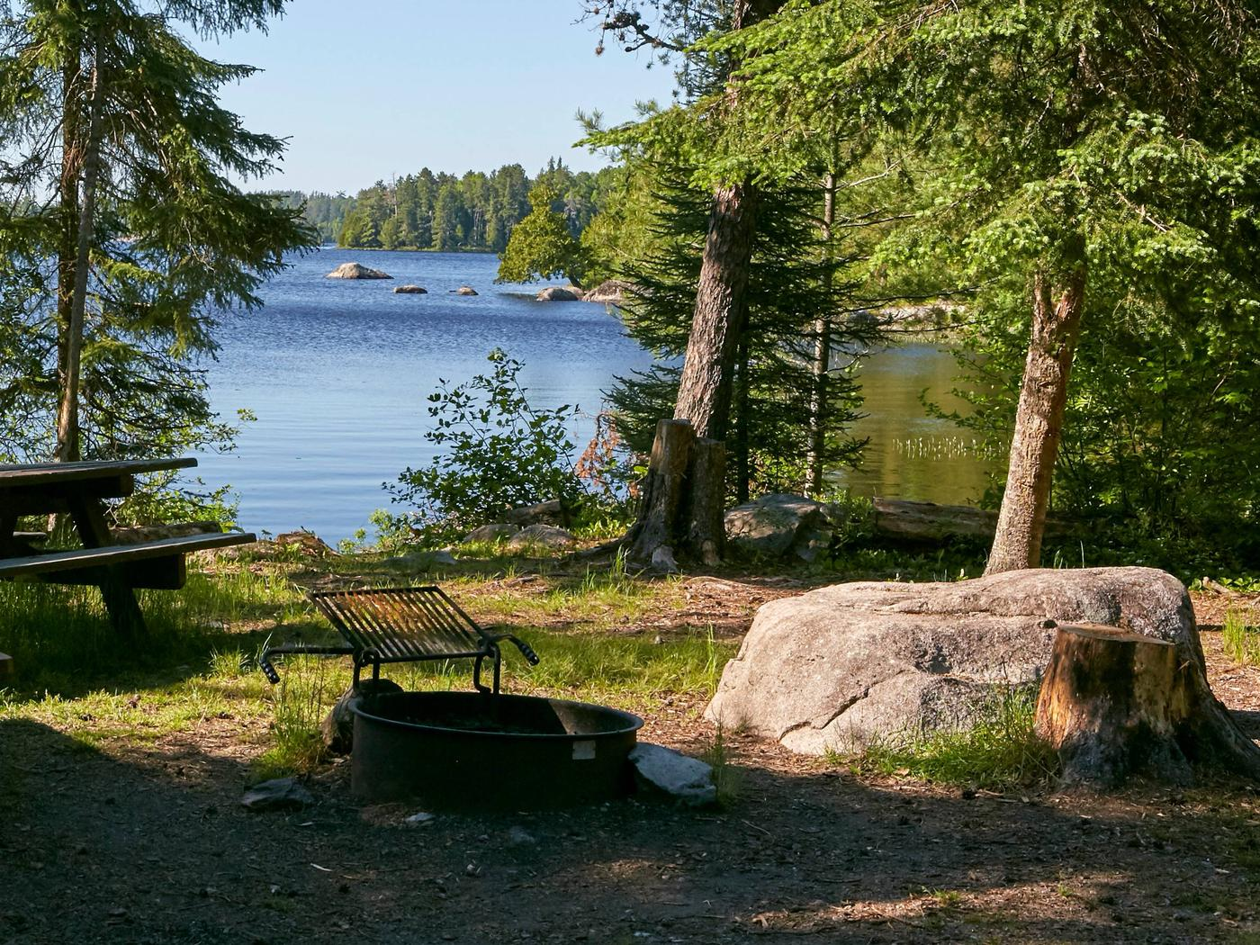 Lake Jeanette campsite #11View from campsite 11