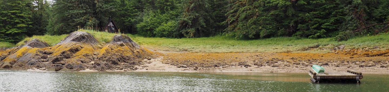 Berg Bay Cabin with mooring floatBerg Bay Cabin