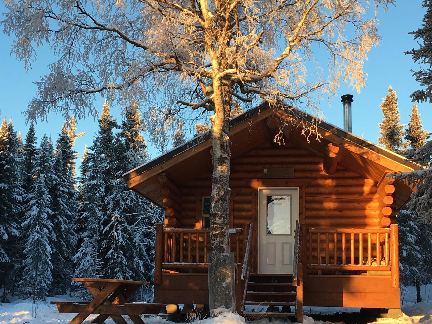 Kelly Lake cabin.