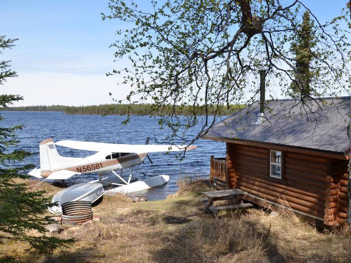 Snag Lake cabin.