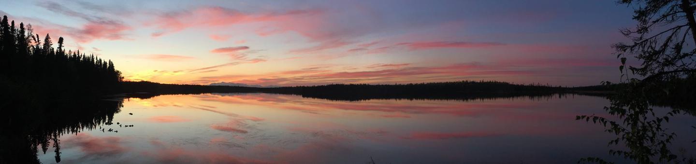 Sunset.