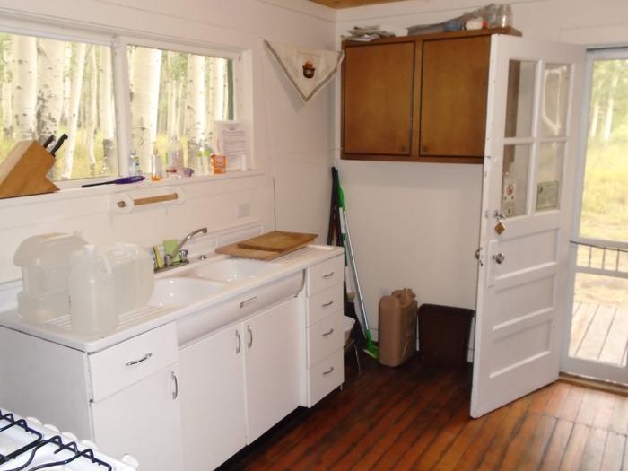 Kitchen inside the cabin