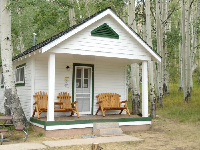 Cabin in the aspensWarner Lake Cabin in the La Sal Mtns.