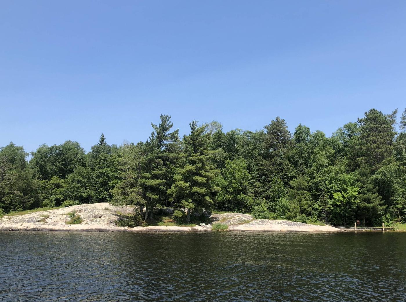 K1View of Bald Rock campsite from the water
