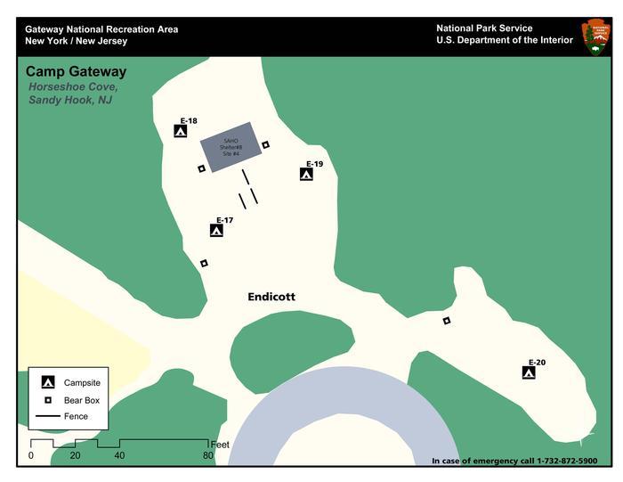 Map of the Endicott 'E' Loop