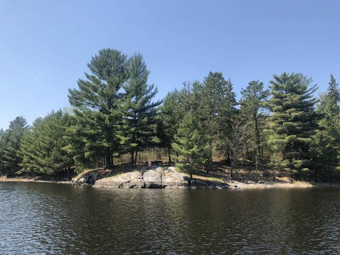 K19 - Lost LakeView of campsite from water