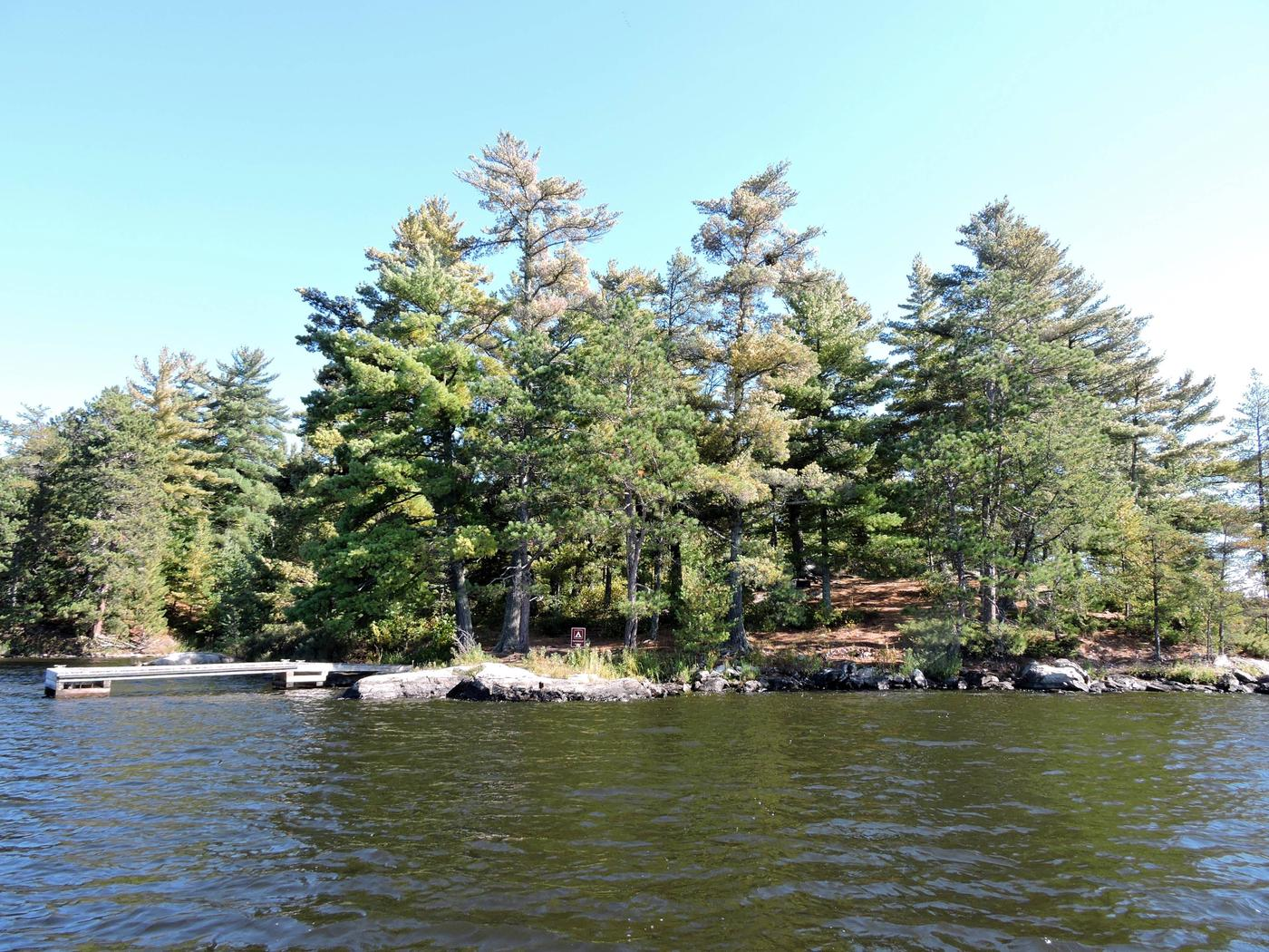K25 - Peterson PointView of campsite from water