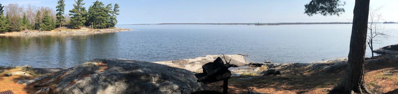 K53 - Sphunge Island WestK53 - Sphunge Island West campsite on Kabetogama Lake
