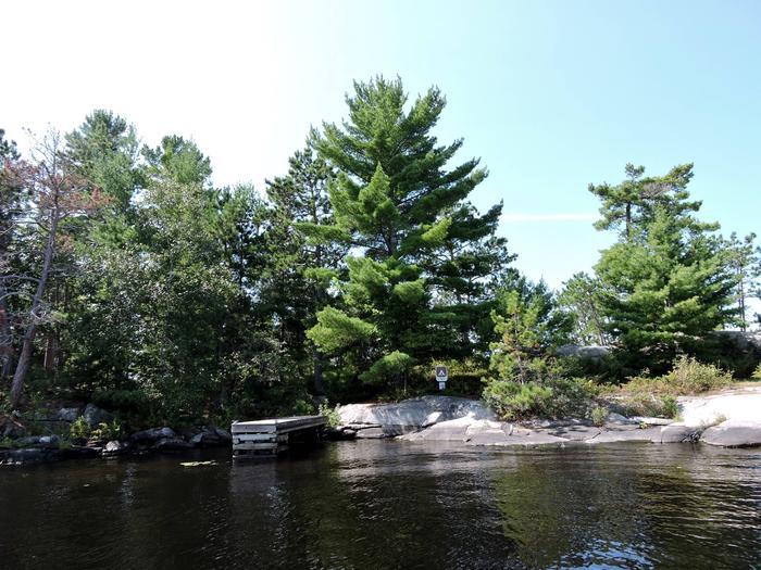 N7 - Depthfinder IslandView of campsite from the water