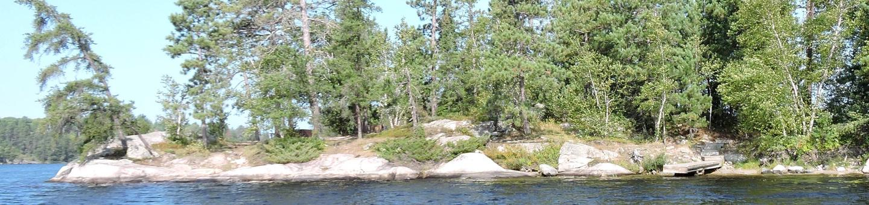 N33 - Rainbow IslandN33 - Rainbow Island campsite on Namakan Lake