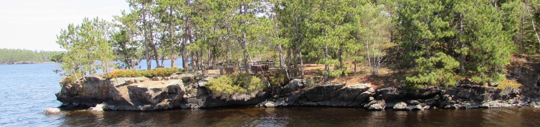 N35 - Rusty IslandN35 - Rusty Island campsite on Namakan Lake