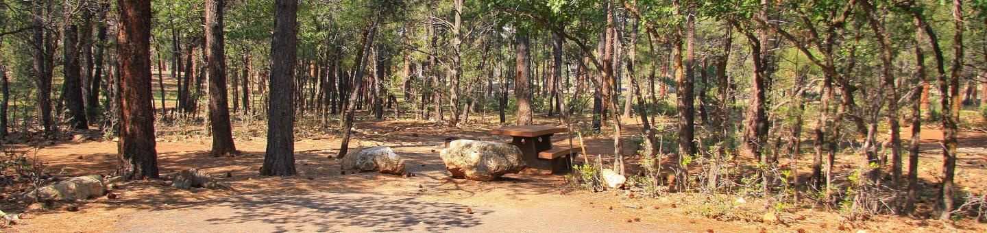 Picnic table and parking spot, Mather CampgroundPicnic table and parking spot for Juniper Loop 144, Mather Campground
