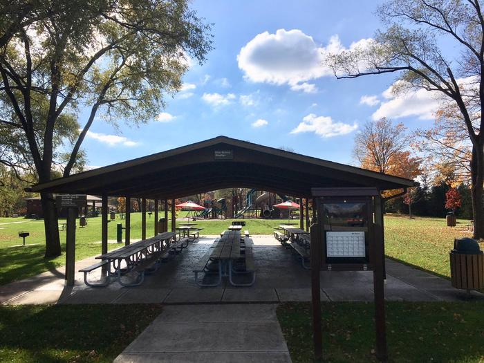 shelter is located closest to parking areaElm Grove shelter