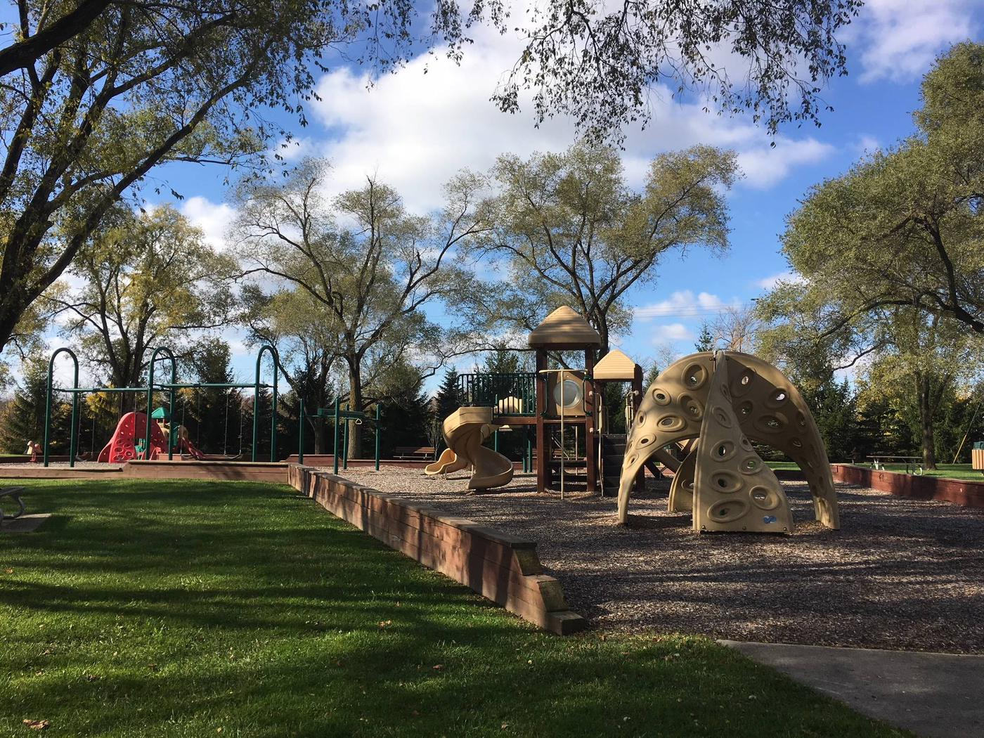 2 areas, one for smaller childrenPlayground next to Shady Ridge shelter