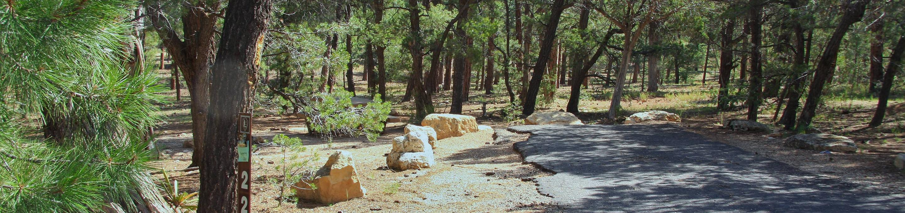 Picnic table, fire pit, and park spot, Mather CampgroundPicnic table, fire pit, and park spot for Oak Loop 227, Mather Campground