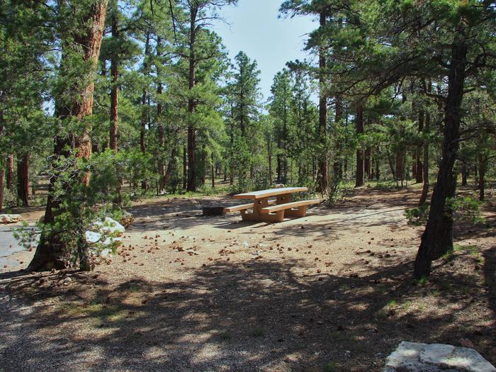 Picnic table, fire pit, and park spot, Mather CampgroundPicnic table, fire pit, and park spot for Oak Loop 231, Mather Campground