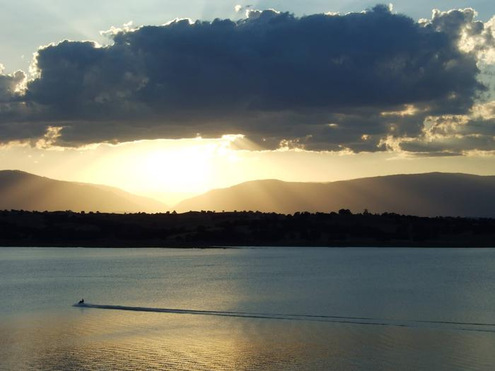 Sunset over the Coast Range as viewed from Buckhorn Recration AreaBuckhorn Recreation Area