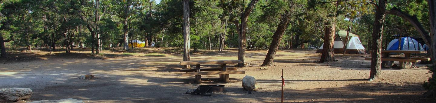 Picnic table, fire pit, and park spot, Mather CampgroundPicnic table, fire pit, and park spot for Oak Loop 250, Mather Campground