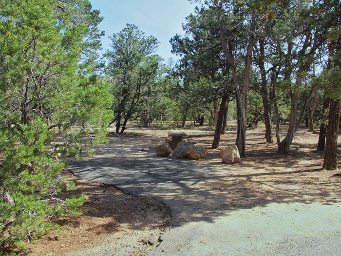 Picnic table and park spot, Mather CampgroundPicnic table and park spot for Oak Loop 253, Mather Campground