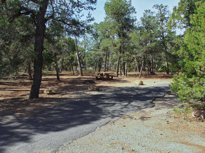 Picnic table, fire pit, and park spot, Mather CampgroundPicnic table, fire pit, and park spot for Oak Loop 255, Mather Campground