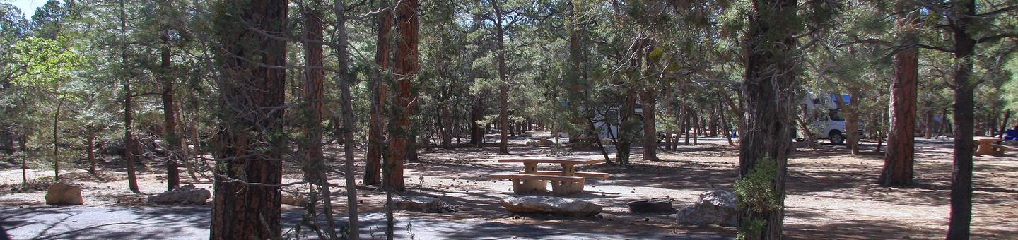 Picnic table, fire pit, and parking spot, Mather CampgroundPicnic table, fire pit, and parking spot Fir Loop 69, Mather Campground