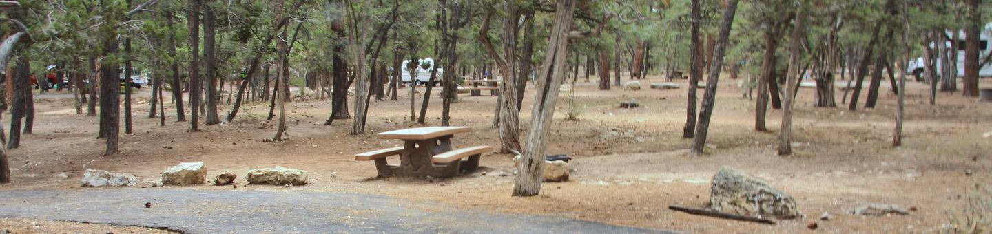 Parking spot and picnic table, Mather CampgroundThe parking spot and picnic table for Aspen Loop 9, Mather Campground
