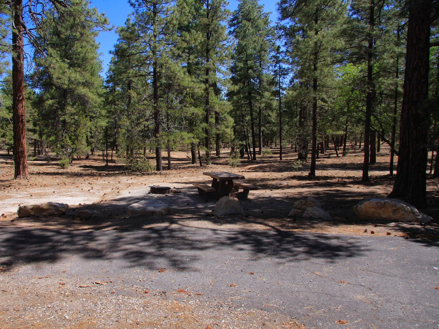 Parking spot and picnic table, Mather CampgroundThe parking spot and picnic table for Aspen Loop 15, Mather Campground