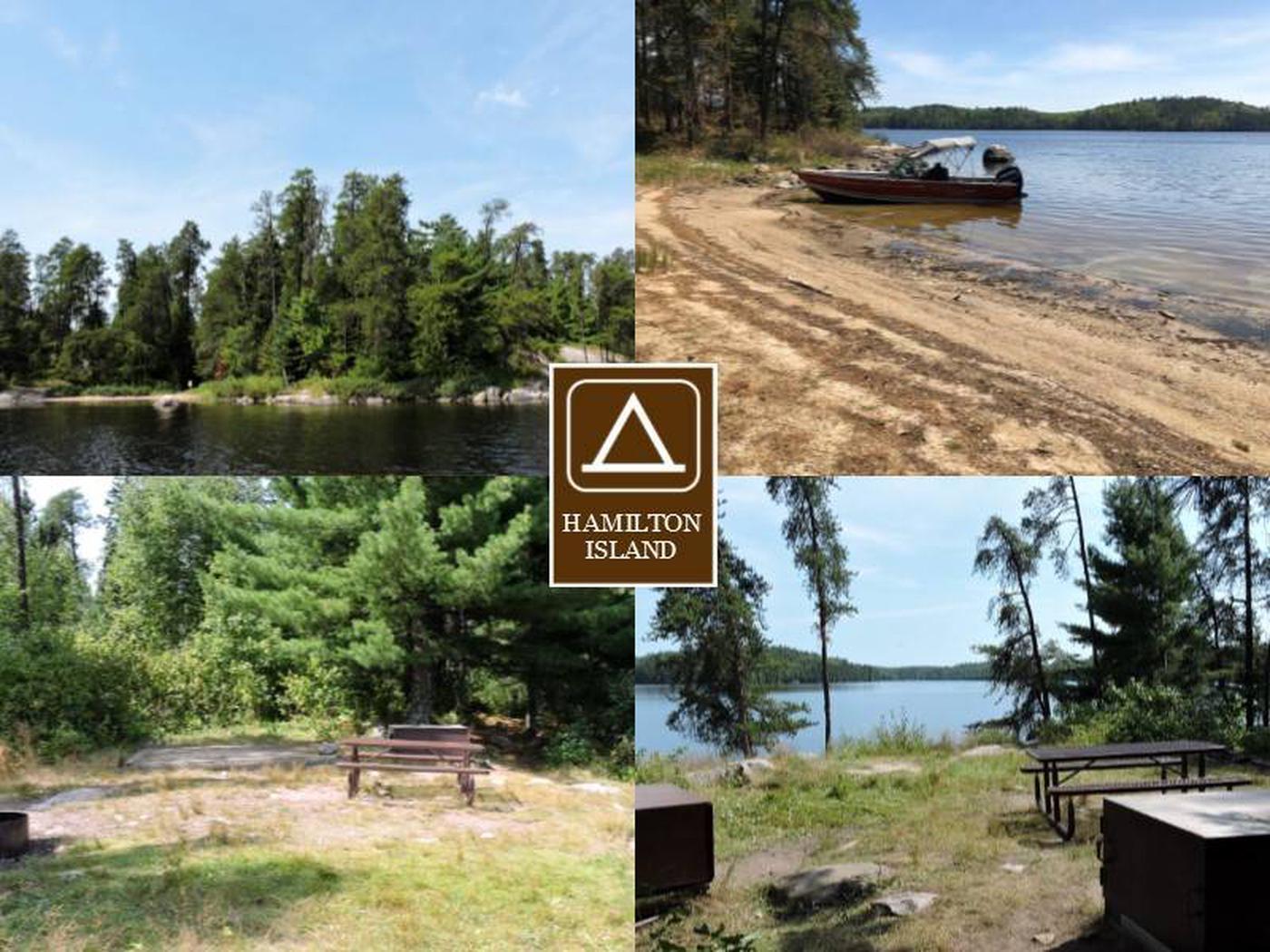 N11 - Hamilton Island EastN11 - Hamilton Island East campsite on Namakan Lake
