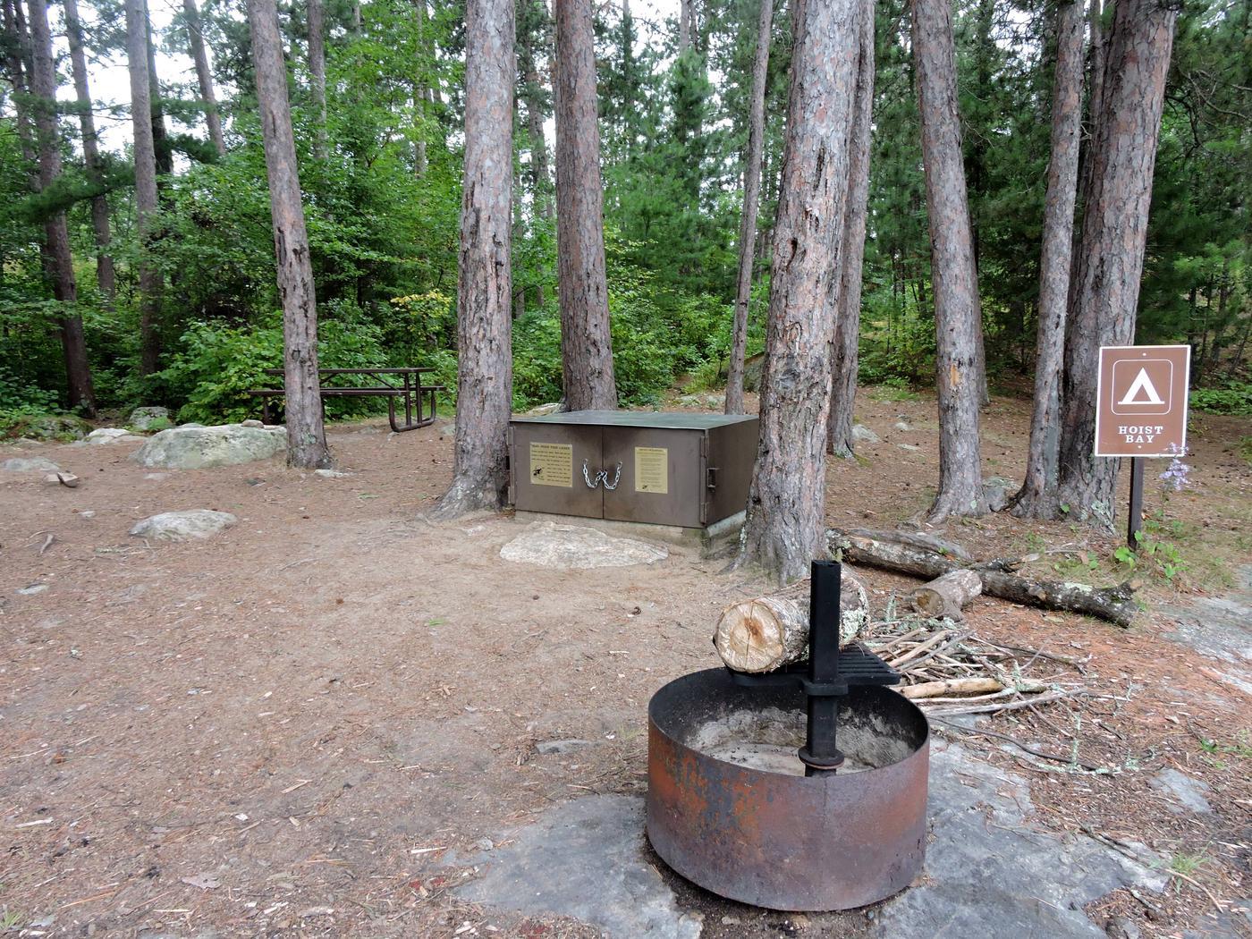 N12 - Hoist BayView of campsite