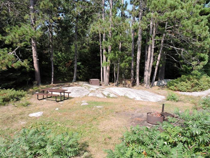Namakan Island West campsite core areaView of campsite core area