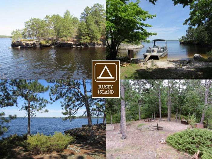 N35 - Rusty Island N35 - Rusty Island campsite on Namakan Lake