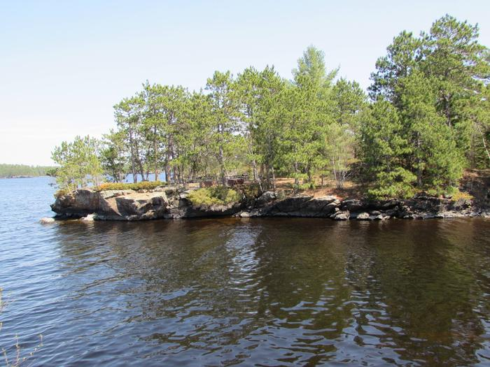 N35 - Rusty Island View of campsite from the water