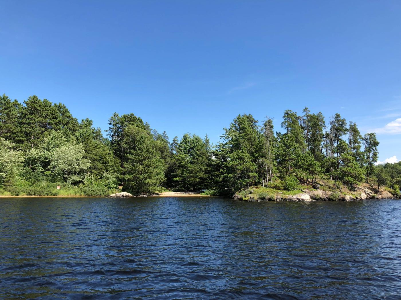 N37 - Sandbar Point View of campsite from the water
