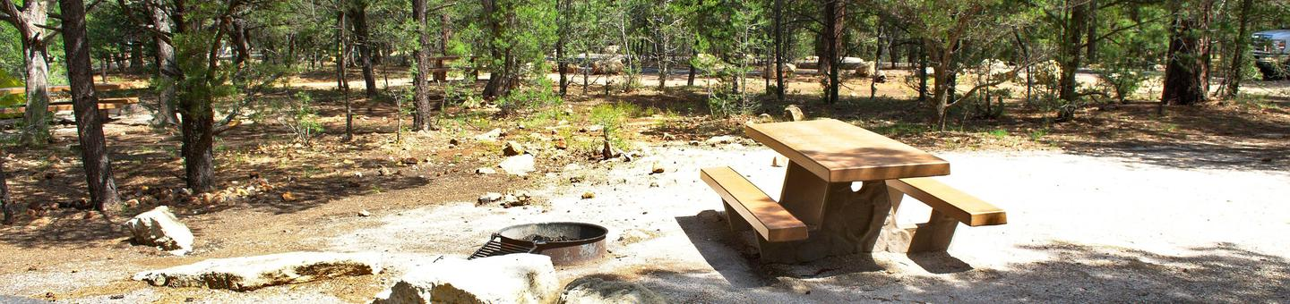 Picnic table, fire pit, , RV and parking spot, Mather CampgroundThe picnic table, fire pit, RV and parking spot for Aspon Loop 37, Mather Campground