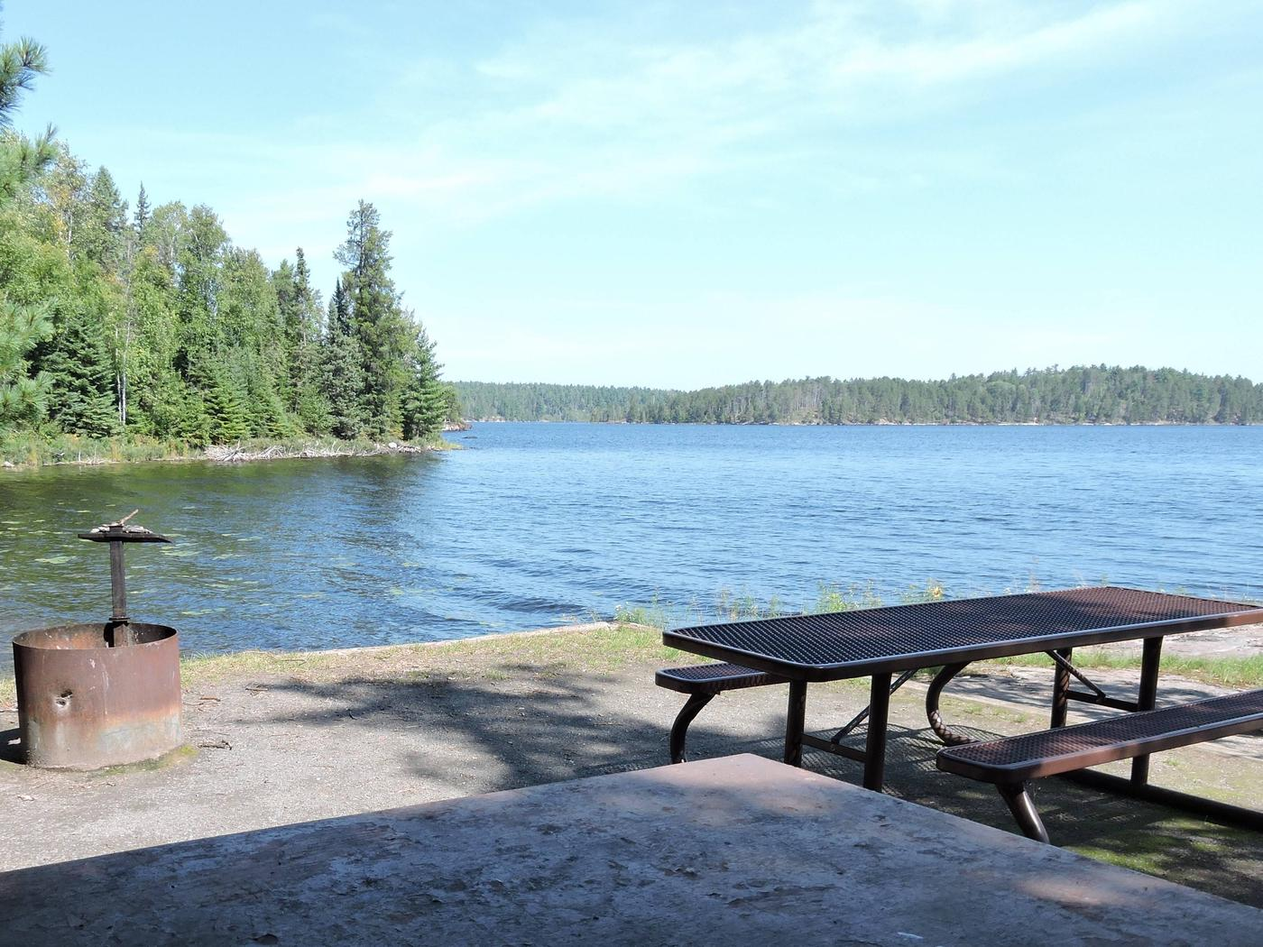 N41 - Voyageurs NarrowsView looking out from campsite