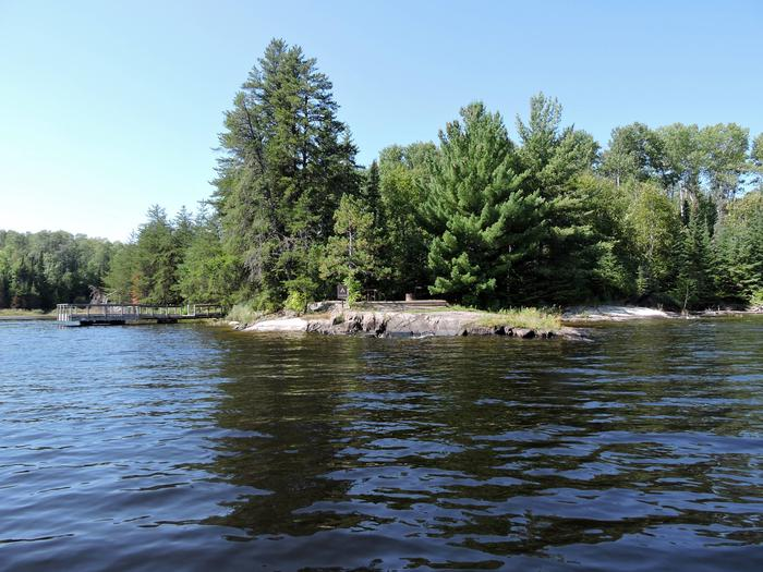 N41 - Voyageurs NarrowsView of campsite from the water