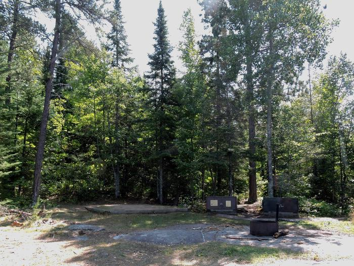 N45 - Windbreak PointView of campsite